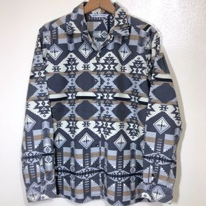 Woolrich Aztec Print Cotton Flannel Button Down